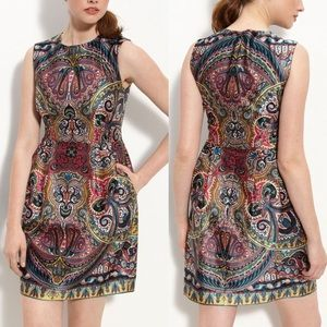 [Nanette Lepore] Gotham Stakes Silk Paisley Dress